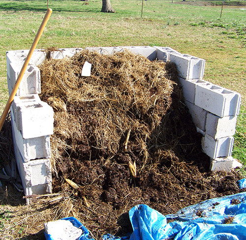 Compost can be used to increase soil organic matter