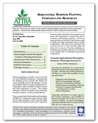 agricultural business planning templates and resources publication