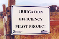 Irrigatioin project sign