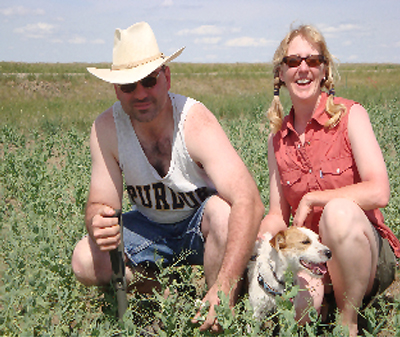 Doug and Anna Crabtree farm organically in Montana