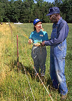 Farmers discuss pasture management