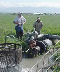 Irrigation pump.