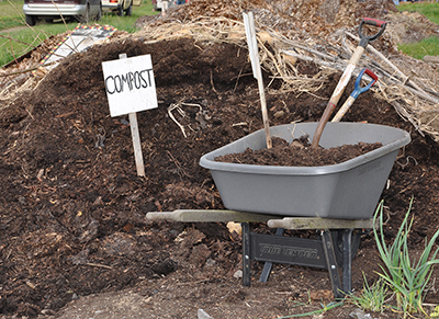 composted manure pile