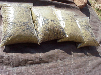 dry sheep manure bags
