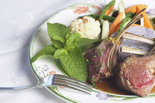 lamb chops on a plate