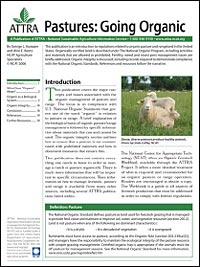 Pastures:Going Organic publication cover