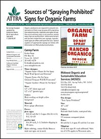 Signs for Organic Farms publication cover