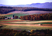 Farming near Klingerstown, Pennsylvania.