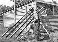 A photo from the 1930s shows a farmer painting