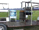A typical mobile processing unit for poultry