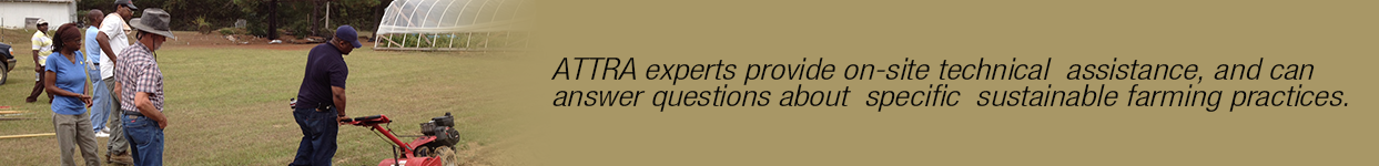 ATTRA experts provide on-site technical assistance