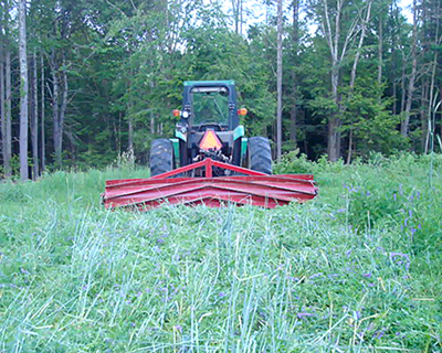 roller crimper for weed control