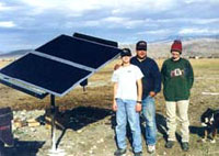 A solar pumping system on the Hirsch Ranch.