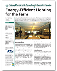 Energy-Efficient Lighting for the Farm