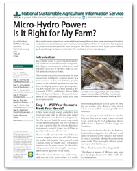 Micro-Hydro Power: Is It Right for My Farm?