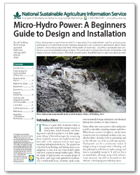 Micro Hydro Design Cover