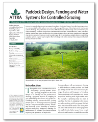 Paddock Design, Fencing, and Water Systems for Controlled Grazing