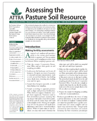 Assessing the Pasture Soil Resource