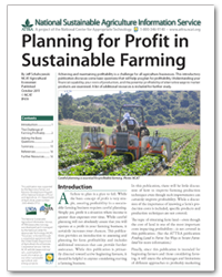 Planning for Profit in Sustainable Farming