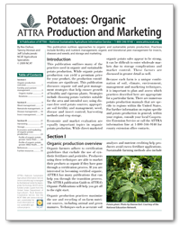 Potatoes: Organic Production and Marketing