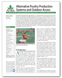 Alternative Poultry Production Systems and Outdoor Access