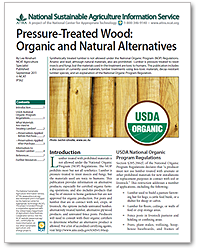 Pressure-Treated Wood: Organic and Natural Alternatives
