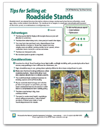 Tips for Selling at: Roadside Stands