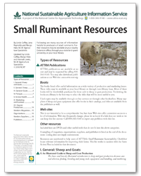 Small Ruminant Resources