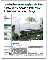 Sustainable Season Extension: Considerations for Design