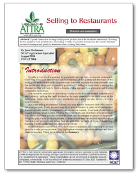 Selling to Restaurants