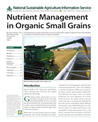 Nutrient Management in Organic Small Grains