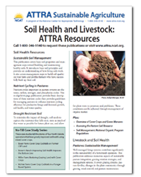 Soil Health and Livestock: ATTRA Resources
