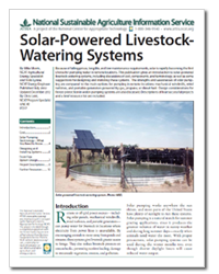 Solar-Powered Livestock-Watering Systems