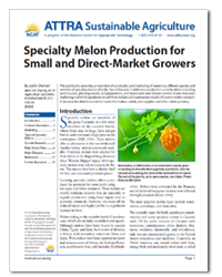 Specialty Melon Production for Small and Direct-Market Growers