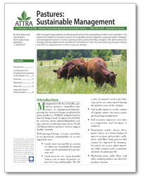 Pastures: Sustainable Management