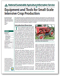 Equipment & Tools for Small-Scale Intensive Crop Production