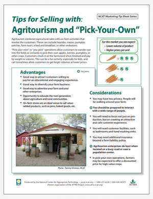 "Tips for Selling with: Agritourism and ""Pick-Your-Own"""