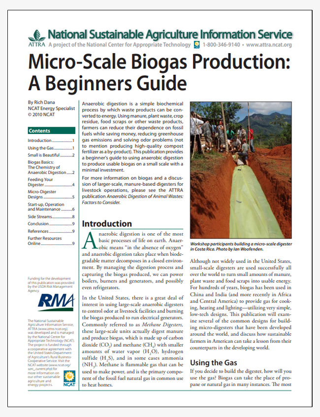 Micro-Scale Biogas Production: A Beginners Guide