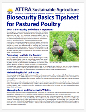 Biosecurity Basics Tipsheet for Pastured Poultry
