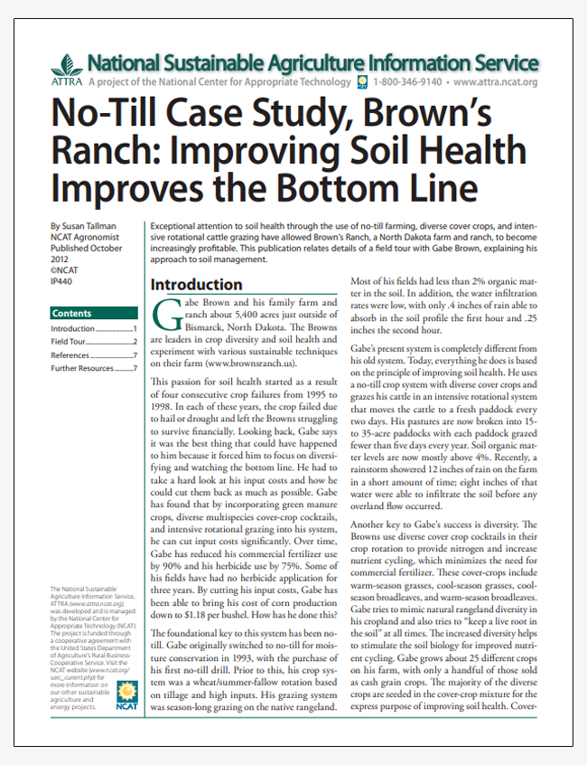 No-Till Case Study, Brown's Ranch: Improving Soil Health Improves the Bottom Line