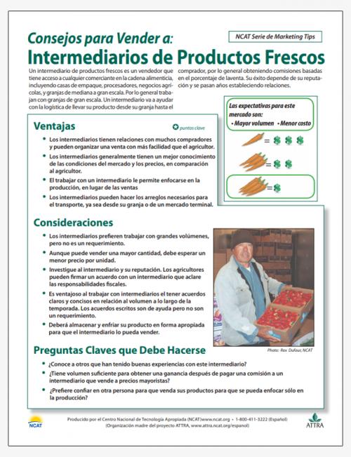 Consejos para Vender a: Intermediarios de Productos Frescos