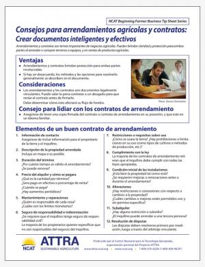 Consejos para arrendamientos agra?colas y contratos: Crear documentos inteligentes y efectivos