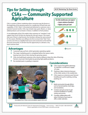 Tips for Selling through CSAs - Community Supported Agriculture
