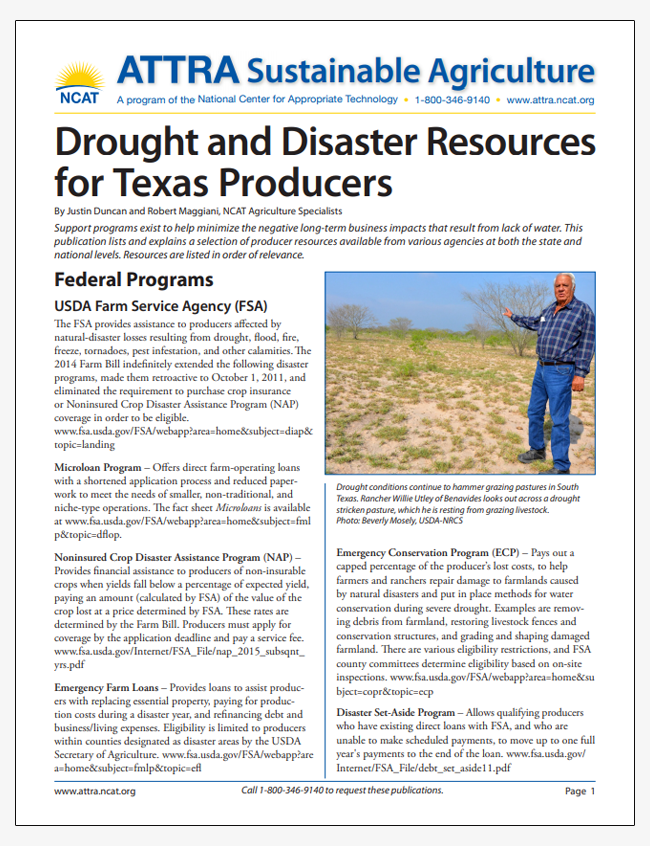 Drought and Disaster Resources for Texas Producers