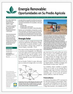 Energia Renovable: Oportunidades en Su Predio Agricola