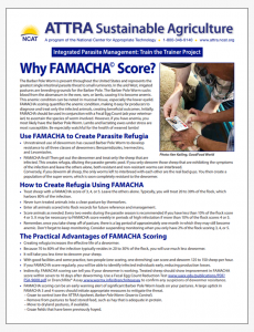 Why FAMACHA Score?
