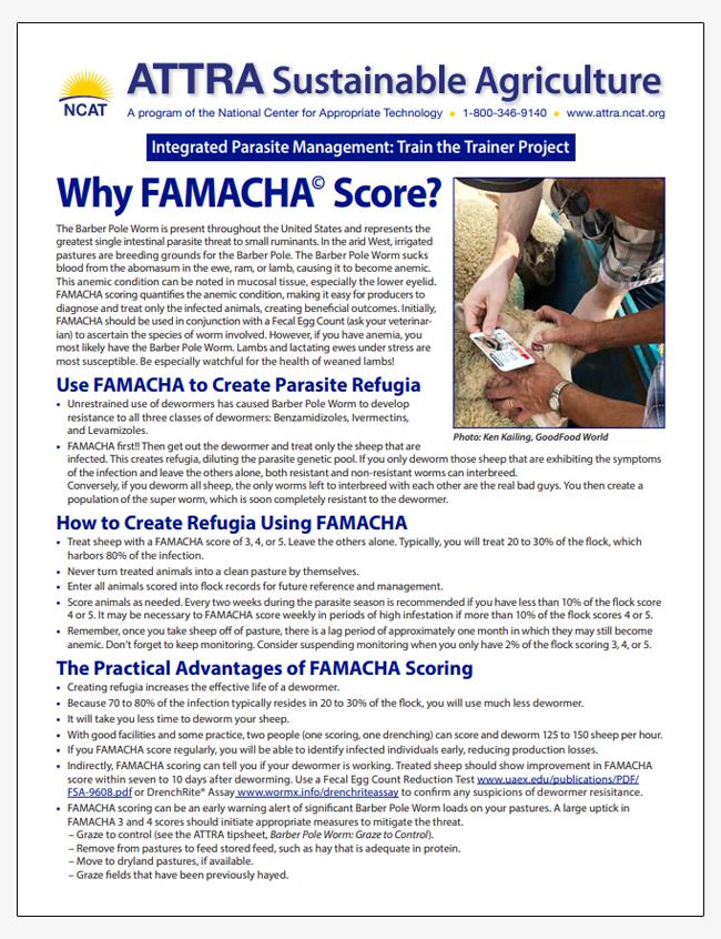 Why FAMACHA Score?