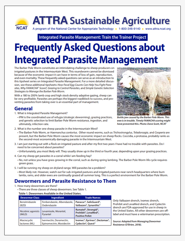 Frequently Asked Questions about Integrated Parasite Management