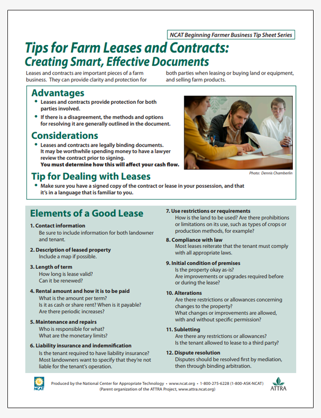Tips for Farm Leases and Contracts: Creating Smart, Effective Documents