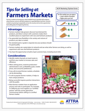 Tips for Selling at Farmers Markets